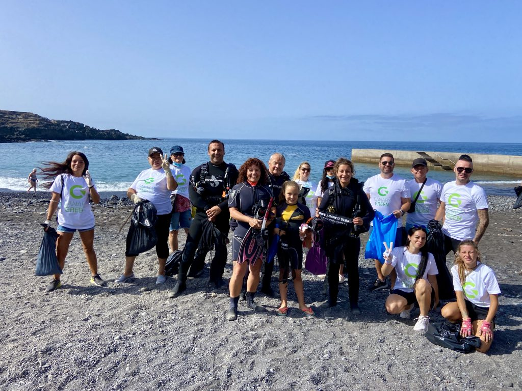 Callao Salvaje Beach Cleaning