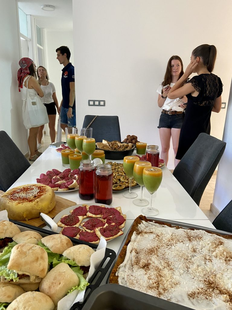 Vegan meal catering by canary green team
