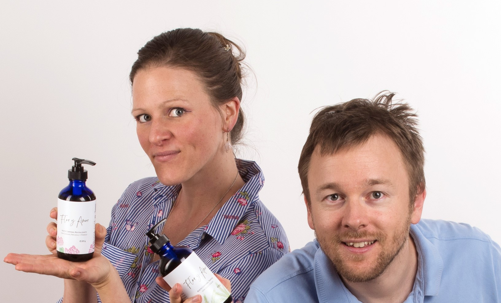 Charles and Kathryn Atkins, Flor y Amor - sustainable cosmetics products